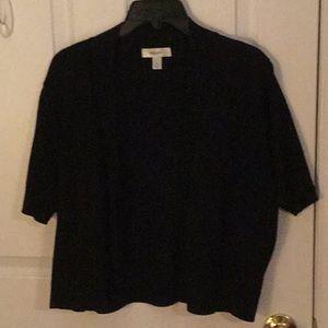 Dress Barn black shrug